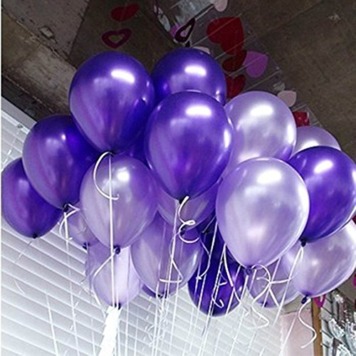 GuassLee 100 ct Latex Balloon 10quot Mixed Purpleamp Light Purple Helium Balloons for Wedding Birthday Party Festival Christmas Decorations