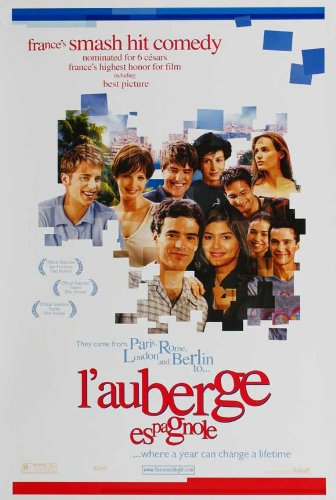 L' Auberge Espagnole Movie Poster (27 x 40 Inches - 69cm x 102cm) (2003) French Style B -(Romain Duris)(Judith Godrèche)(Audrey Tautou)(Cécile De France)(Kelly Reilly)(Cristina Brondo)