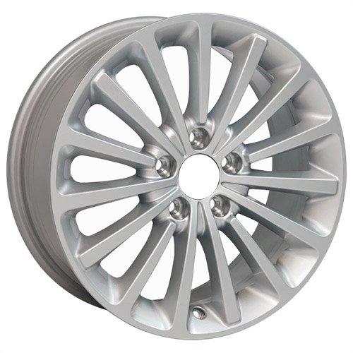 (OE Wheels 17 Inch Fits Volkswagen GTI Jetta EOS CC Tiguan Rabbit Passat Golf Beetle VW Passat VW30 Painted Silver OEM 17x7 Rim Hollander 70000S)