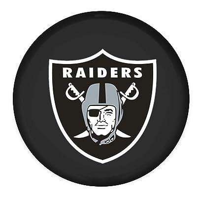"Forno for Oakland Raiders Spare Tire Cover Canvas Car Truck SUV Camper Size XL R16 (Diameter 29.9""-31"")(Oakland Raiders, 16 inches): Automotive"