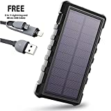 Solar Charger SUNLIT | Portable Power Bank with Flashlight |...