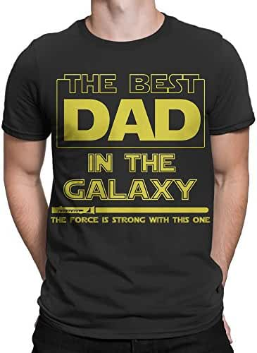 Muggies Men's Father's Day Gift T-Shirt The Best Dad In The Galaxy, The Force Is Strong With This One.