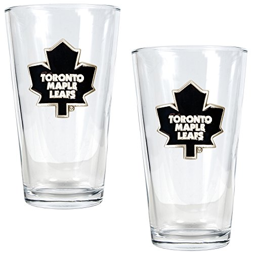 NHL Toronto Maple Leafs Two Piece Pint Ale Glass Set - Primary Logo