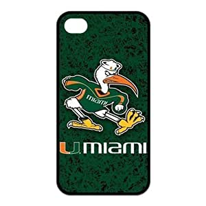 NCAA Miami Hurricanes Logo For iphone 6 4.7 Best Rubber Cover Case-Creative New Life