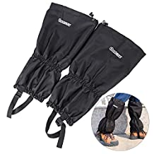 High Snow Leg Gaiters, Oumers Winter Waterproof Breathable Velcro Wraps Leg Boot Covers For Hiking Ski Climbing Hunting Walking Snowboard Snowshoeing Mountaineering Ice Equipment