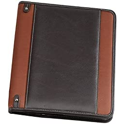 Bellino Deluxe Napa Leather Executive Padfolio Note Pad, Rust
