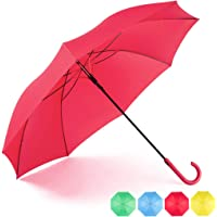 RUMBRELLA Stick Umbrella Auto Open with J Hook Handle, Windproof Umbrellas
