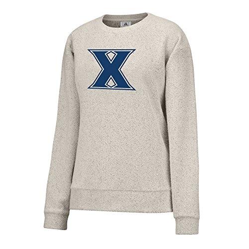 Ncaa Xavier Musketeers Womens Innovator Crew Sweater  X Large  Oatmeal