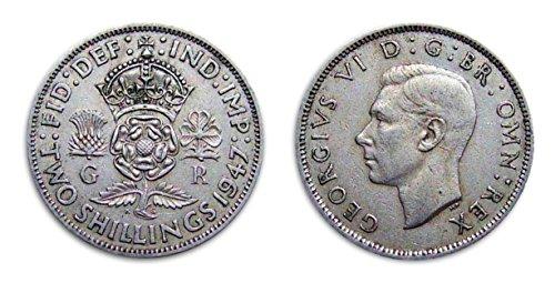 Collectible coins - 1947 Circulated British Florin / UK GB