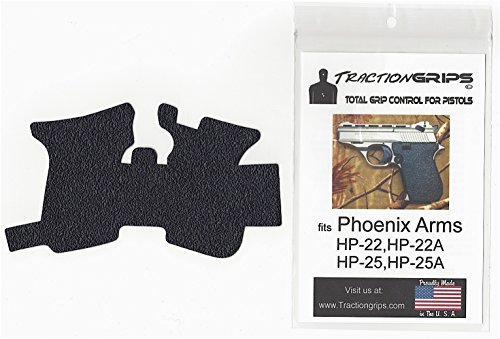 Tractiongrips grip overlay decal Phoenix Arms HP-22, HP-22A, HP-25, HP-25A