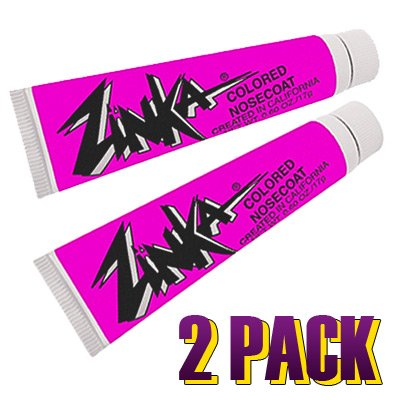 Zinka Colored Nosecoat Sunscreen - 2 Packs - Hot Pink