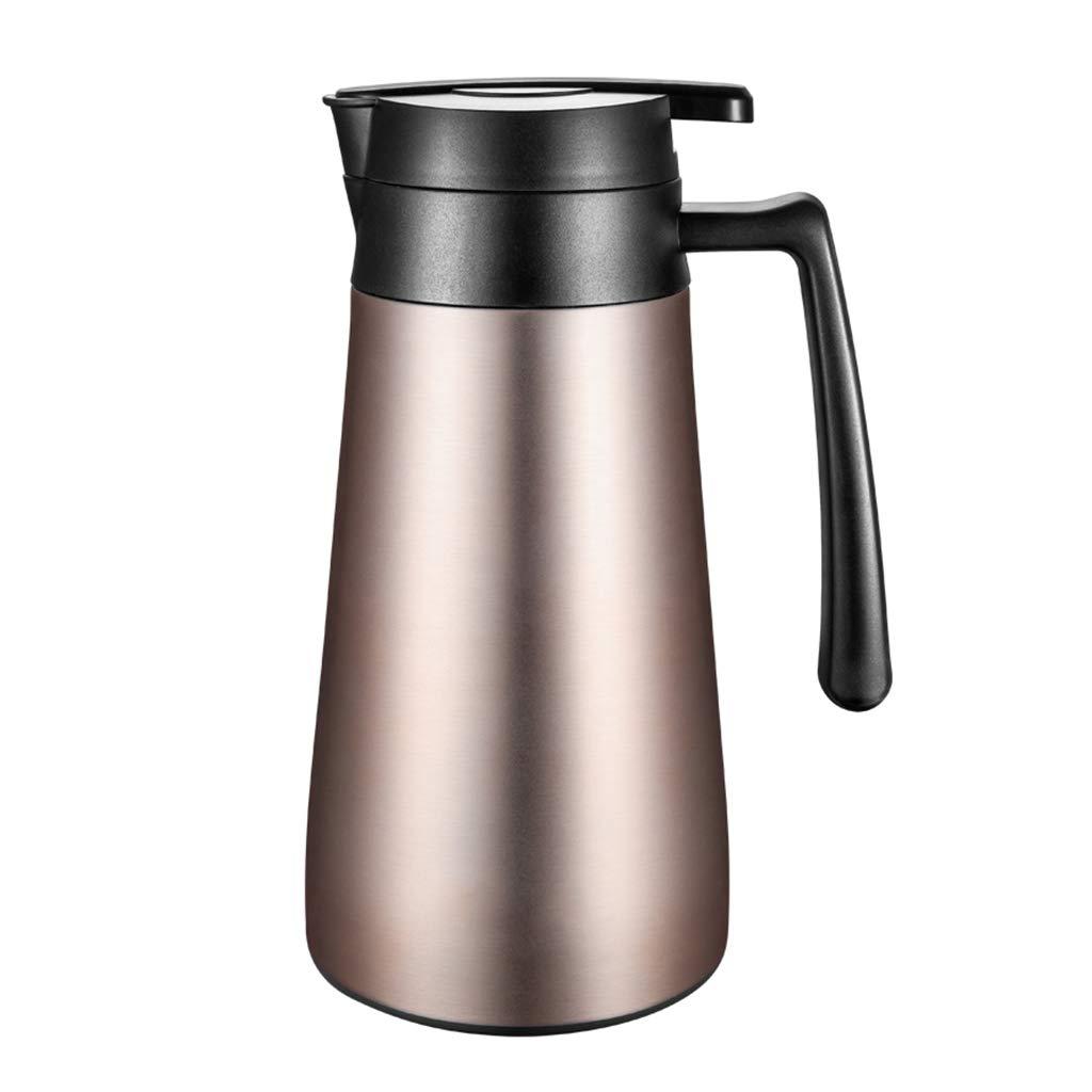 FYCZ Thermoskannen, 304 Edelstahl Große Kapazität Thermos Kaffeekanne Home Outdoor Isolierung Kalt One-Button Gießen Von Wasser 1.3L