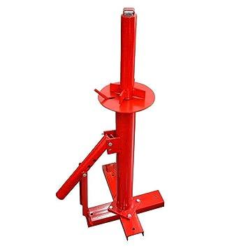 LINGJUN Desmontadora de Neumáticos Llantas Profesional Portátil para Garaje Mecánica Taller Rojo