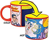 (US) This Calls for Wonder Woman Heat Changing Mug - Add Coffee or Tea and Diana Prince Transforms into Wonder Woman - Comes in a Fun Gift Box