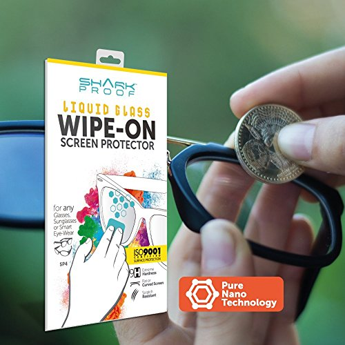 Shark Proof Liquid Glass Wipe-On Screen Protector Invisible, Scratch Resistance & Bubble Free. Fits for any Glasses, Sunglasses & Smart - Eyewear Eye