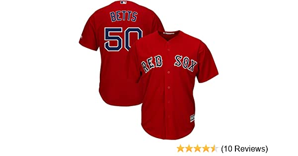 d4c6a78f3 Amazon.com  Majestic Mookie Betts Boston Red Sox MLB Youth Red Alternate Cool  Base Replica Jersey  Clothing