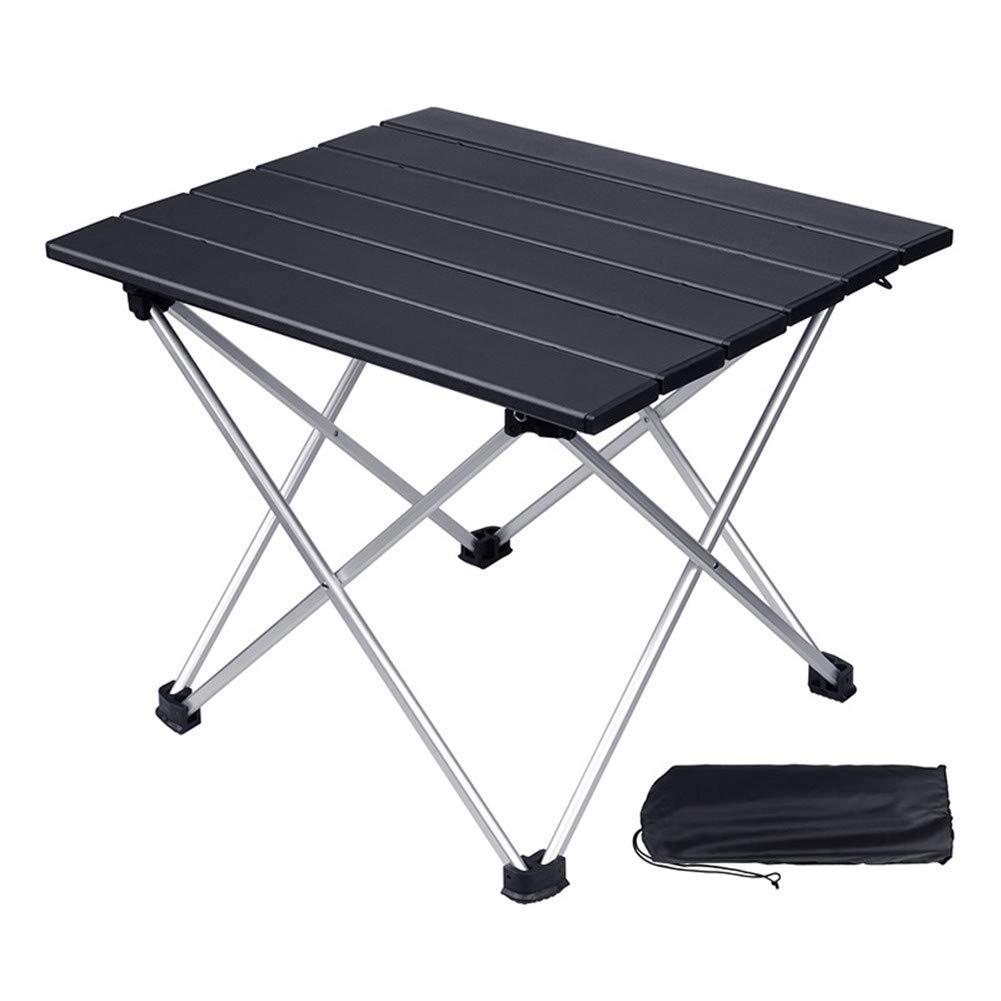 CZXXH Tavolo da Campeggio in Alluminio Altezza Tavolo da Pranzo Picnic Campeggio,nero