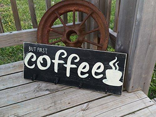 Amazon Com Coffee Sign Coffee Bar Decor Coffee Mug Holder