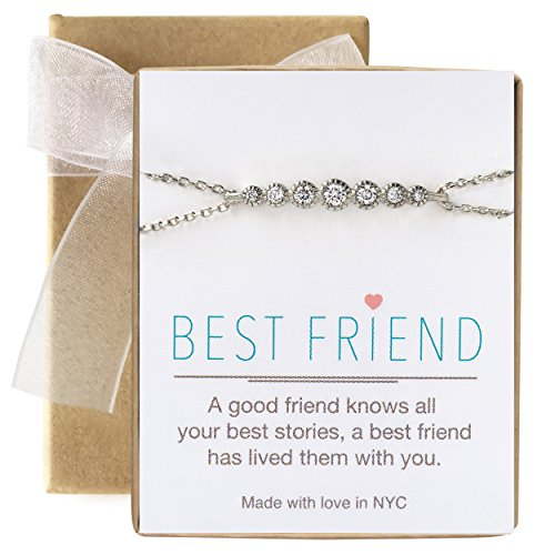 (AMY O Best Friend Friendship Bracelet Gift in Gold, Rose Gold or Silver)