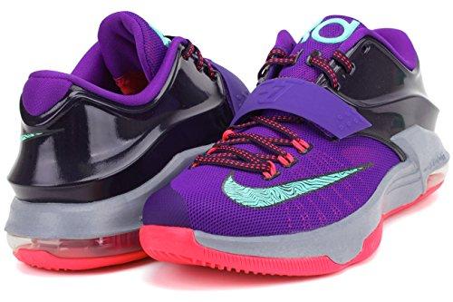 Nike Mens Kd Vii Thunderbolt Basketbalschoenen Cv Prpl / Blchd Trq-hypr Grp-mgn