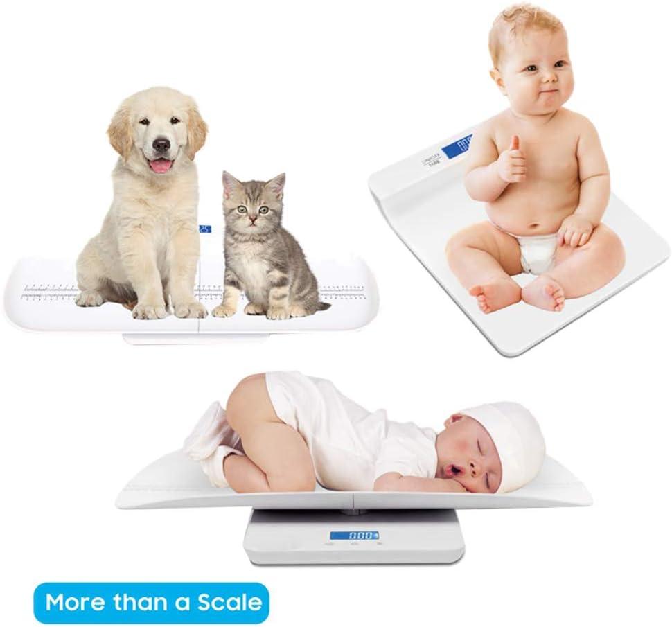 LFEWOU B/áscula Digital para beb/és medir el Peso de la Mascota para Perros y Gatos 3 Modos de pesaje y de Tara 100 kg // 220 LB 3 Modos con Carga USB multifunci/ón port/átil