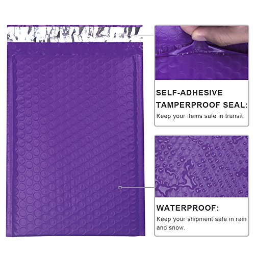 Mailer Plus #0 Purple Poly Bubble Mailers 6x10 Padded Envelopes 25pcs Photo #3