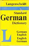 img - for Langenscheidt's Standard Dictionary of the English and German Languages book / textbook / text book