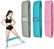 Resistance Bands for Legs and Butt, Non Slip Fabric Resistance Bands, Booty Bands for Women & Men, Set of