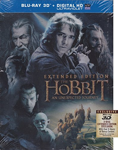 Hobbit: An Unexpected Journey Steel Book (Blu-ray 3d +Digital Hd Ultrviolet Copy)