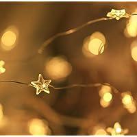 SALCAR Cadena de Luces de Estrella LED 10M