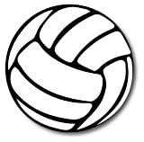 """Volleyball Magnet 5"""" Round Heavy Duty for Car Truck"""