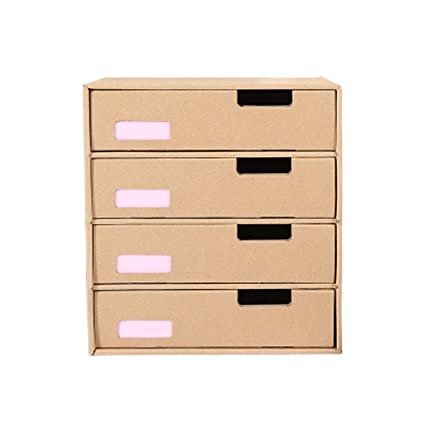Hzpxsb Boîte De Rangement De Papier Bureau A4 Boîte De