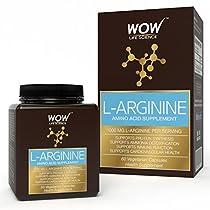 WOW LArginine Amino Acid Supplement 1000mg LArginine 60 V