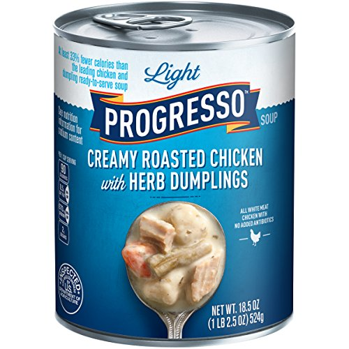 (Progresso Light Creamy Roasted Chicken with Herb Dumpling Soup 18.5 oz Pull-Top Can)