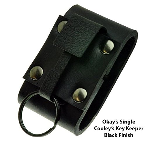 Okay's Key Safe Black Top Grain Leather Key Holder