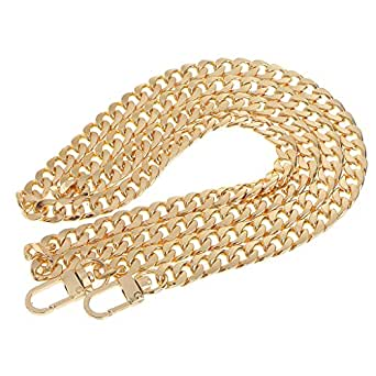Lovoski Metal Purse Chain Strap Replacement Crossbody Bag Accessories - Gold, 47in