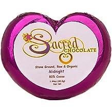 Sacred Chocolate 83% MIDNIGHT Maple Sweetened, Stone-Ground, Organic Vegan RAW Chocolate 83% Cacao 1.44oz Bar (12 Pack)