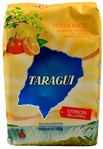 Taragui Yerba Mate with Orange, Lemon and Grapefruit Peel, 500-Gram Packages