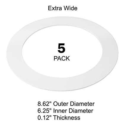 5 pack white plastic trim ring for 8 inch recessed can down light 5 pack white plastic trim ring for 8quot inch recessed can down light oversized lighting aloadofball Gallery