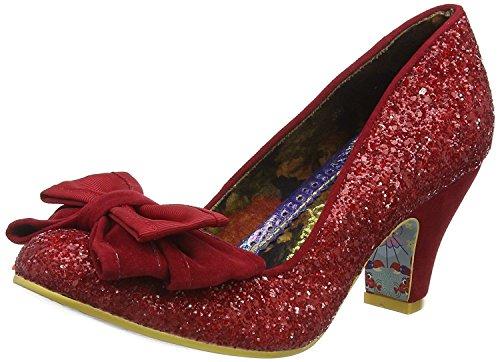 Irregular Choice Ban Joe Rouge Glitter Femmes Talons Court Chaussures