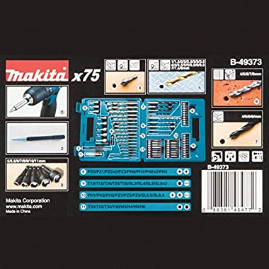 Makita B-49373 Drill and Screw Bit, Set of 75 Pieces 8