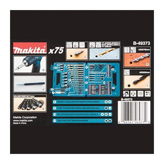 Makita B-49373 Drill and Screw Bit, Set of 75 Pieces 4