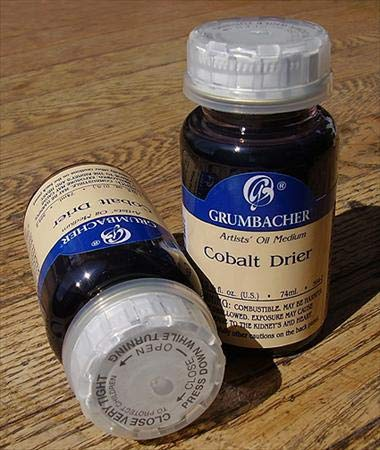 Grumbacher Cobalt Drier Medium for Oil Paintings, 2-1/2 Oz. Jar, #5942