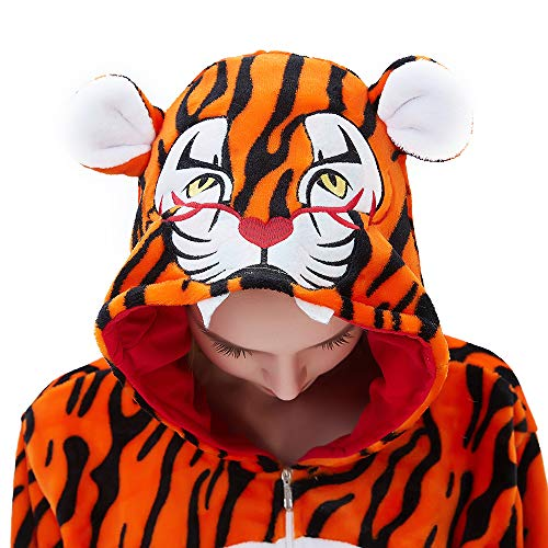 ABENCA Fleece Onesie Pajamas for Women Adult Cartoon