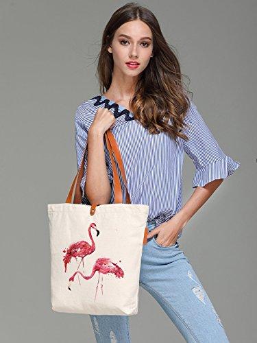 So'each Bolsa de tela y de playa, color natural (beige) - HBA-UK-ODJ-42