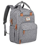 Diaper Bag Backpack, Large Capacity Unisex Nappy Changing Bags for Boys and Girls