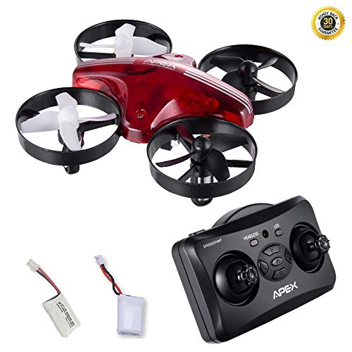 y Whoop Mini Drone Remote Controller Helicopter 6 Axis Gyro Micro with Headless Mode Hold Altitude for Kids Children Toys Easy Ready to Fly Aircraft (Red) ()