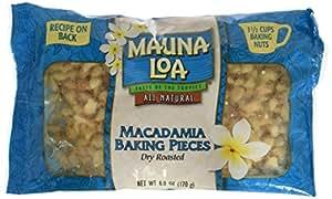 Mauna Loa Macadamia Baking Pieces, 6-Ounce Bags (Pack of 6)