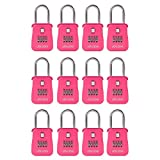 Lion Locks 1500 Key Storage Realtor Lock Box with Set-Your-Own Combination, (12 Pack , Pink)