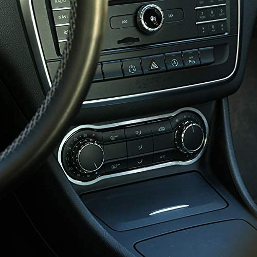 YIWANG per Benz CLA GLA Classe A A180 W176 C117 GLA200 5 pezzi Anello per console centrale in fibra di carbonio